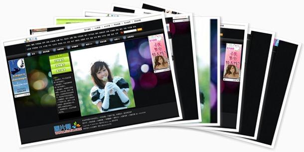 此图片模板一出,那些卖垃圾图片站的赶紧闪,可兼容多种浏览器!